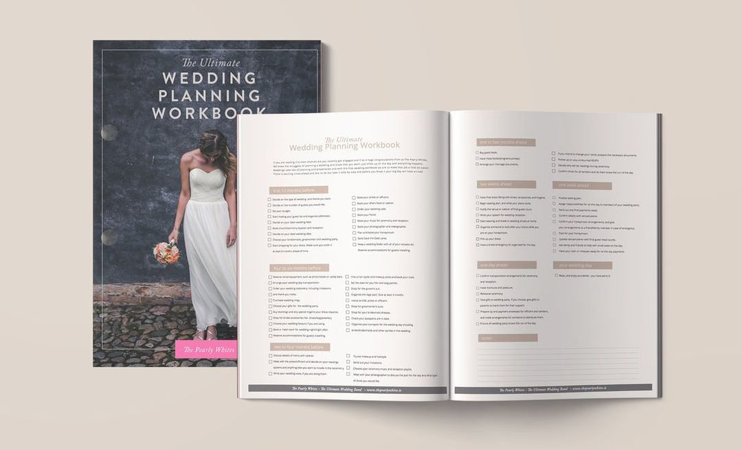 The Pearly Whites Wedding Planning Workbook Free